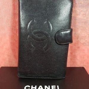 Authentic Chanel CC Logo Bifold Wallet